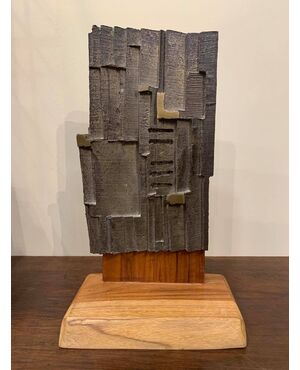 "KENJIRO AZUMA  (  Yamagata   1926  -  Milano   2016  ) Scultura ""Mu"" 1966"