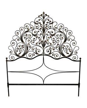 testata da letto matrimoniale antica genovese a pavone ferro battuto e dorature