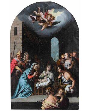 Adorazione dei Pastori, Domenico Carnevale (1524 - 1579)