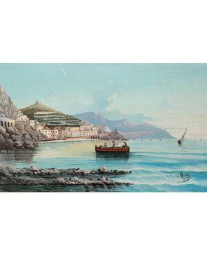Veduta marina, fine XIX secolo