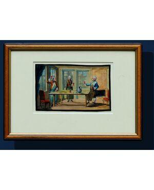 XIX secolo, Scena conviviale