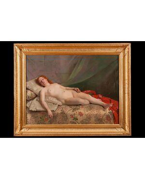 Dipinto olio su tela di Jeanne Bordes-Guyon(Francia 1903)