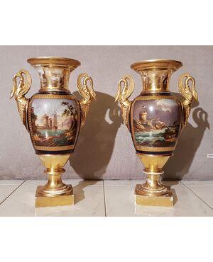 Coppia di vasi in porcellana - I impero