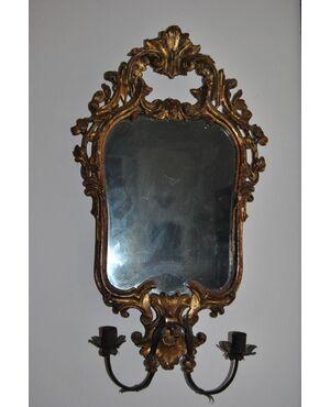 Cornice veneziana con specchio al mercurio