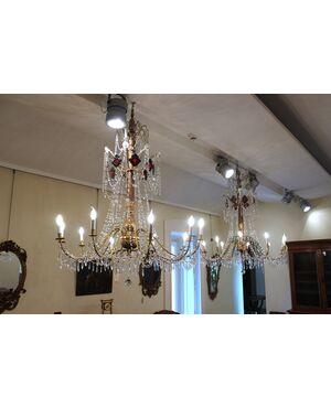 Coppia di lampadari genovesi, fine XIX secolo