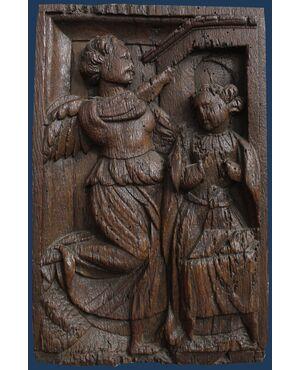 XVII secolo,  Annunciazione in legno
