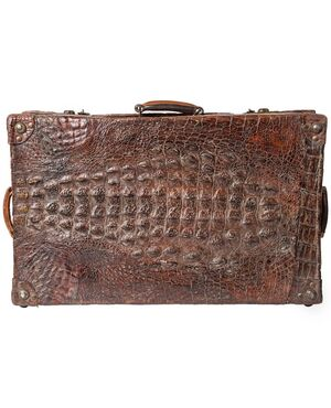 Valigia vintage in coccodrillo Africano - n.1065