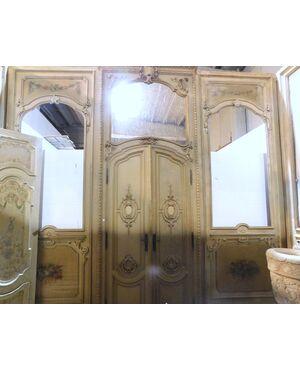 darb023 stanza completa di boiserie laccata, mis. circa 5 x 4 m. x h 3,65