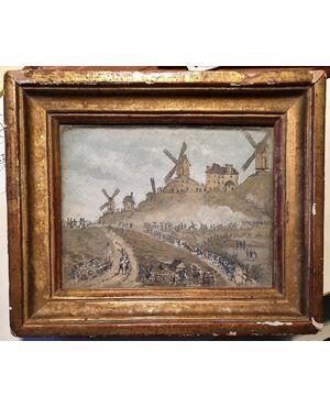 Battaglia di Valmy. Acquerello. Cm 10x12,6.