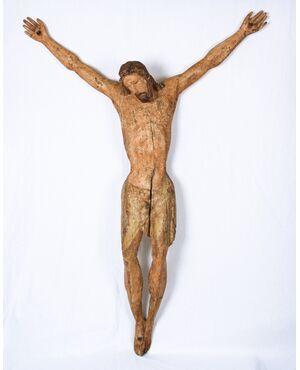 Cristo ligneo policromo, Toscana, Sec. XIII