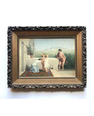"""""""La sorpresa""""- primi XIX secolo -olio su tela - Francia"""