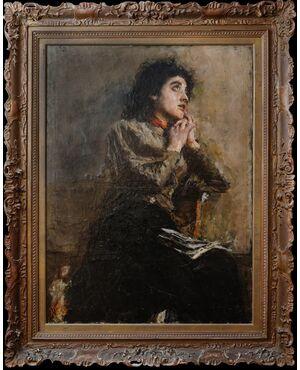 La modella (Desire) - Antonio Mancini, 1852-1930