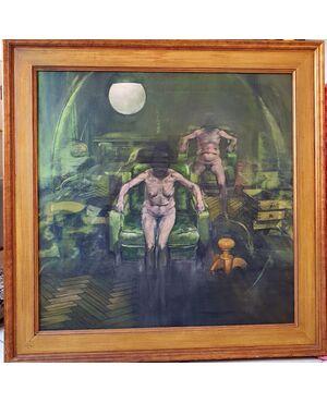 """Alberto Sughi """"Moglie e Marito 1967."""