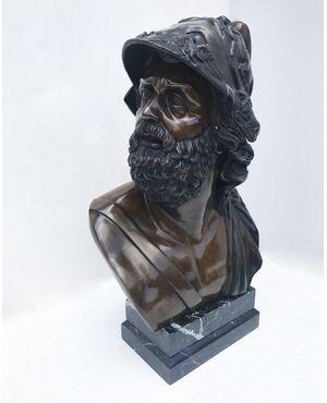 Pericle - Busto in bronzo patinato
