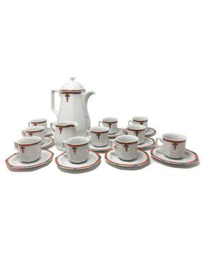 1930s Original Rare  Stunning German White Art Deco Coffee and Tea Set
