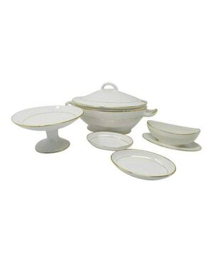 1950s Original Astonishing Tureen Soup Set Made in Italy (Ceramic by Laveno)