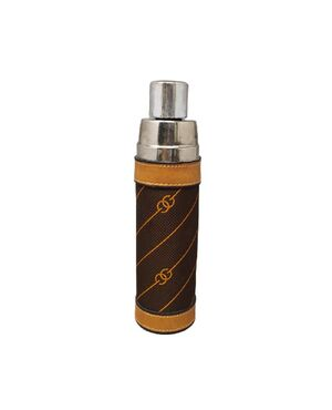 1970s Stunning GUCCI Brown Monogram Canvas Thermos Vacuum Flask. Made in Italy