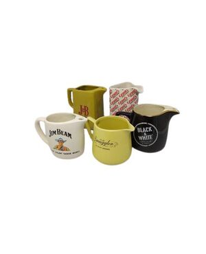 1970s Vintage Amazing Whisky jugs collection in ceramic