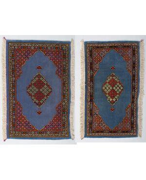 Coppia tappeti persiani KUM o GHUM - nr. 485 e 486 -