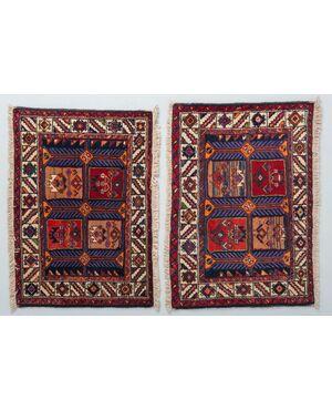 Coppia scendiletti AFSHAR periodo Shah Pahlavi - nr. 594-595.