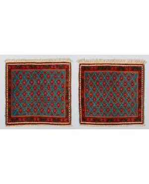 Coppia di piccoli tappeti persiani AFSHAR - epoca Pahlavi - nr. 481-482 -