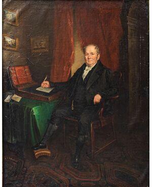 Ritratto di gentiluomo, Scuola lombarda, XIX secolo