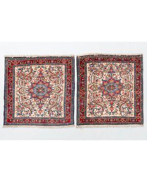 Coppia di scendiletti persiani BIDJAR - nr. 136 e 137 -