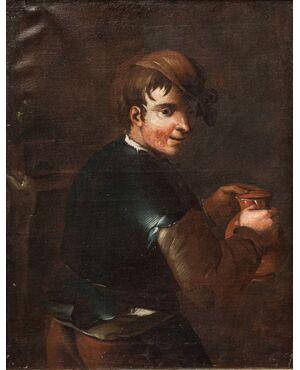 Ritratto di popolano, ambito di Antonio Amorosi (1660 - 1738)