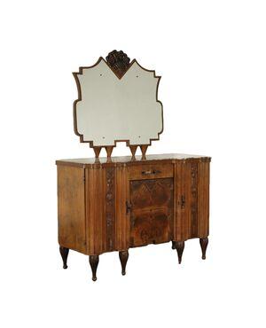 Credenza con Specchiera Art Decò