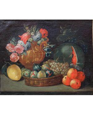 Natura morta con frutti, dipinto del XIX secolo
