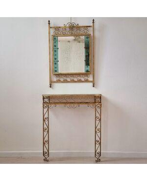 Pierluigi Colli console e specchio 1950