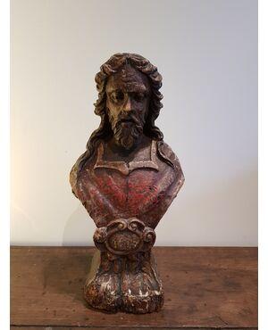Scultura lignea raffigurante Cristo - Epoca 600