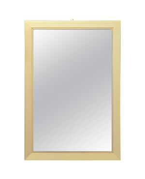 Elegant Brass Mirror Signed by Willy Rizzo