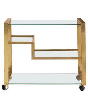 Brass and Glass Bar Cart