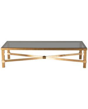 Monumental Solid Brass Coffee Table, circa 1970