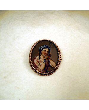 Spilla borbonica con miniatura