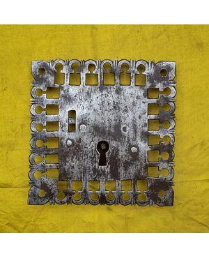 Bella serratura da cassapanca trentina  XVI secolo