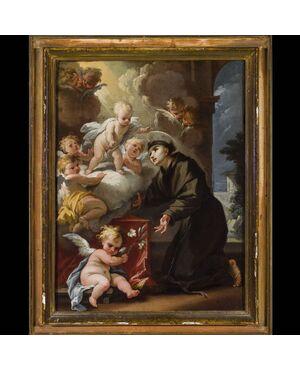 Antico dipinto olio su tela Camillo Sagrestani Firenze 1660 - 1731