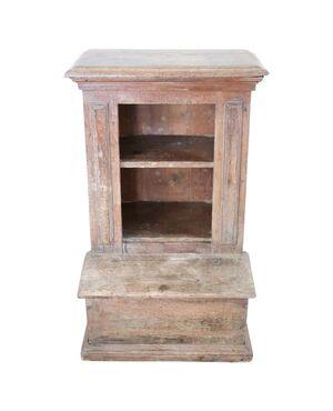 Inginocchiatoio antico rustico in legno di larice secolo XVIII PREZZO TRATTABILE