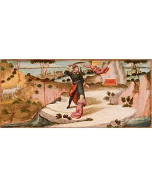 Nicola di Maestro Antonio d'Ancona, Il Sacrificio d' Isacco e il sogno di Giuseppe