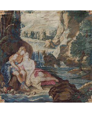 Venere e Adone al bagno, Arazzo del XVII secolo