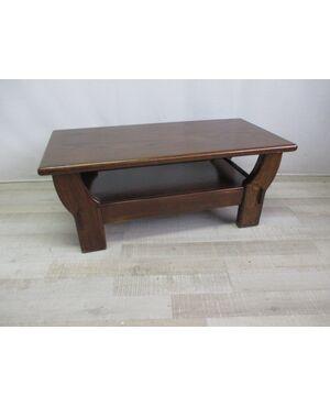 Tavolino basso da salotto in castano - epoca anni 80 - ottime condizioni .