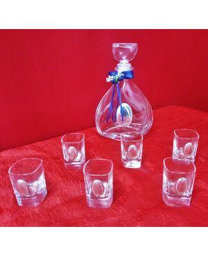 Servizio da liquore in cristallo