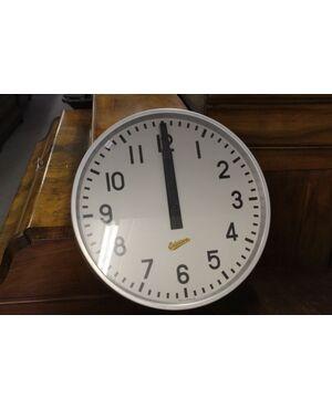 Orologio Ericsonn industriale  STAZIONE anni 60 industriale , color acciaio e verde! Vecchio vintage