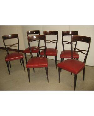 Sei sedie anni 60. Modernariato italiano
