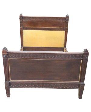 Letto antico in stile Luigi XVI noce massello fine sec XIX PREZZO TRATTABILE