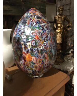 Lampada multicolor in vetro di Murano