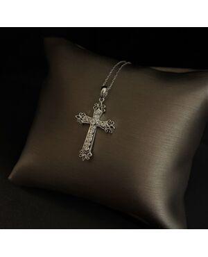 Pendente  croce  con  Diamanti.