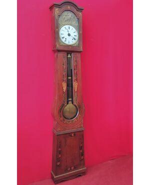 Orologio a pendolo laccato rosso