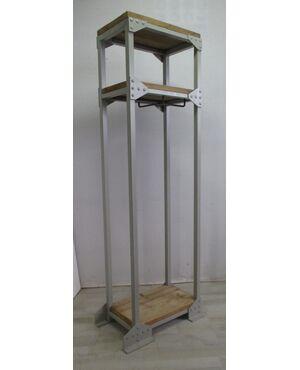 Armadio a giorno/scaffalatura in ferro e legno - stile industriale - industrial